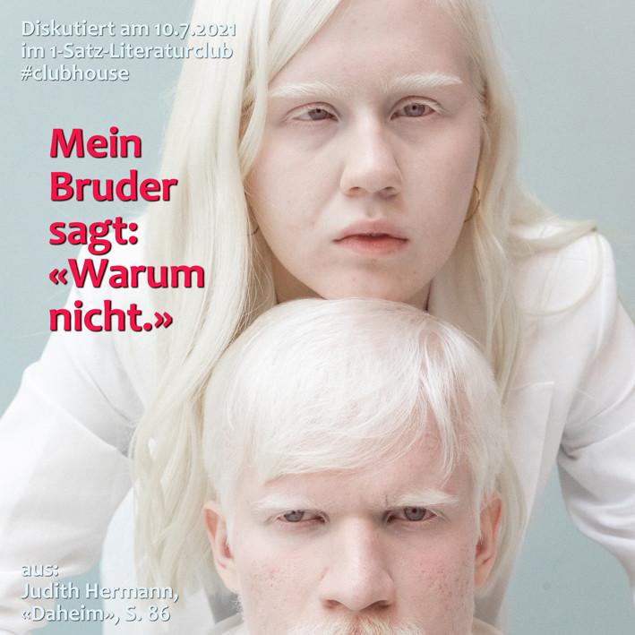 1-Satz-Literaturclub 1SLC Lakritza Judith Niederberger Judith Hermann Daheim