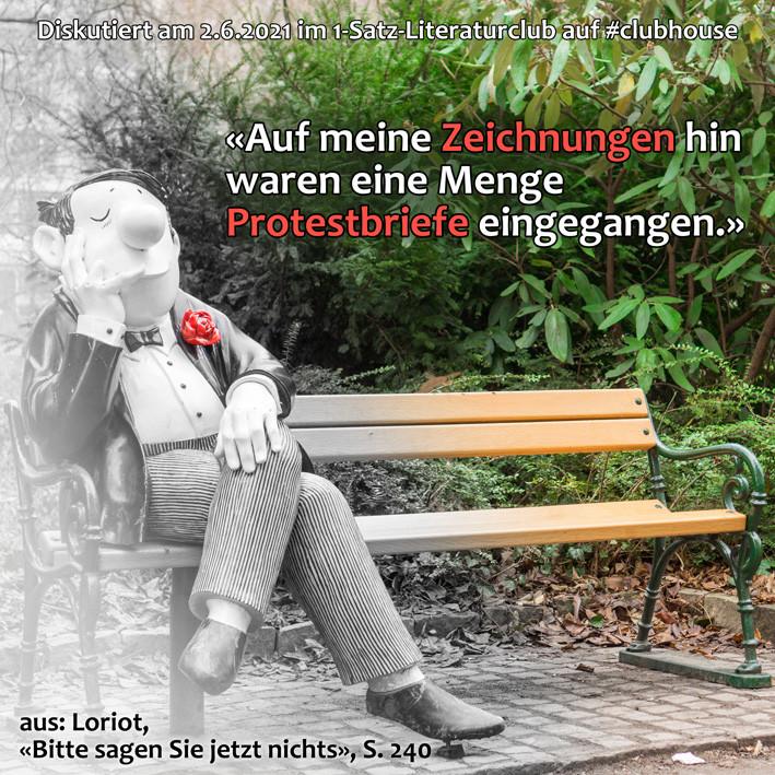1-Satz-Literaturclub 1SLC Lakritza Judith Niederberger Loriot Bitte sagen Sie jetzt nichts Gespräche