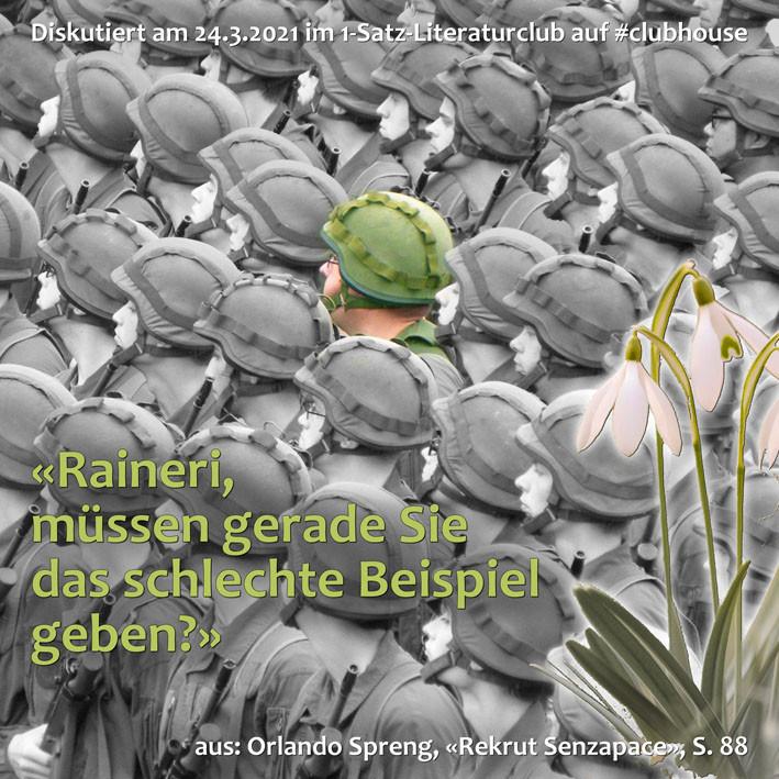 1-Satz-Literaturclub Lakritza Judith Niederberger Orlando Spreng Rekrut Senzapace