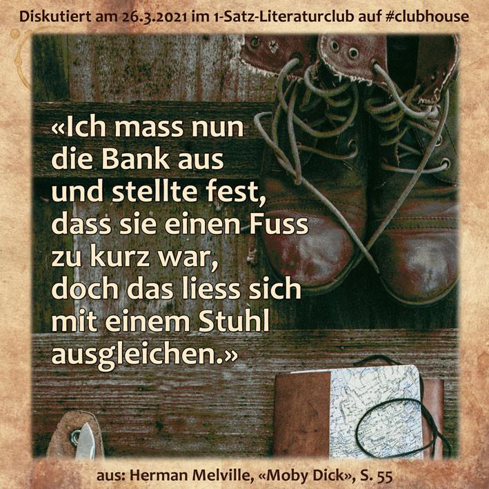 Herman Melville Moby Dick 1-Satz-Literaturclub Judith Niederberger Lakritza