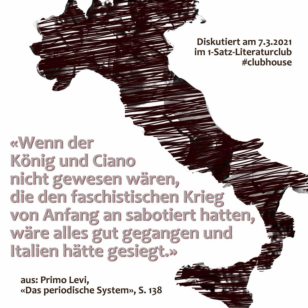 1-Satz-Literaturclub Lakritza Judith Niederberger Primo Levi Das periodische System