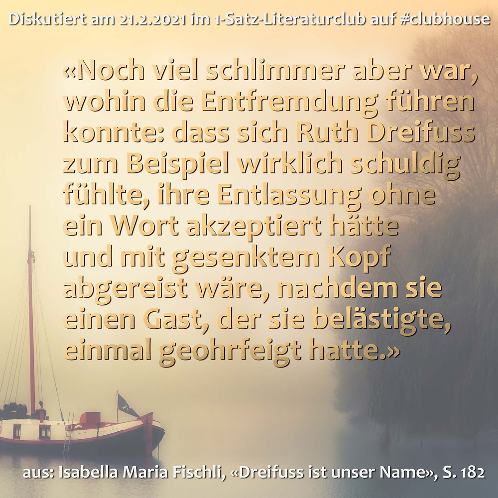 1-Satz-Literaturclub Lakritza Judith Niederberger Isabella Maria Fischli Dreifuss ist unser Name
