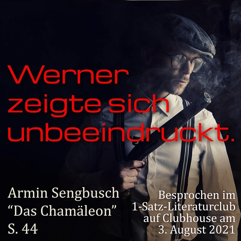 1-Satz-Literaturclub 1SLC Lakritza Judith Niederberger Armin Sengbusch Das Chamäleon