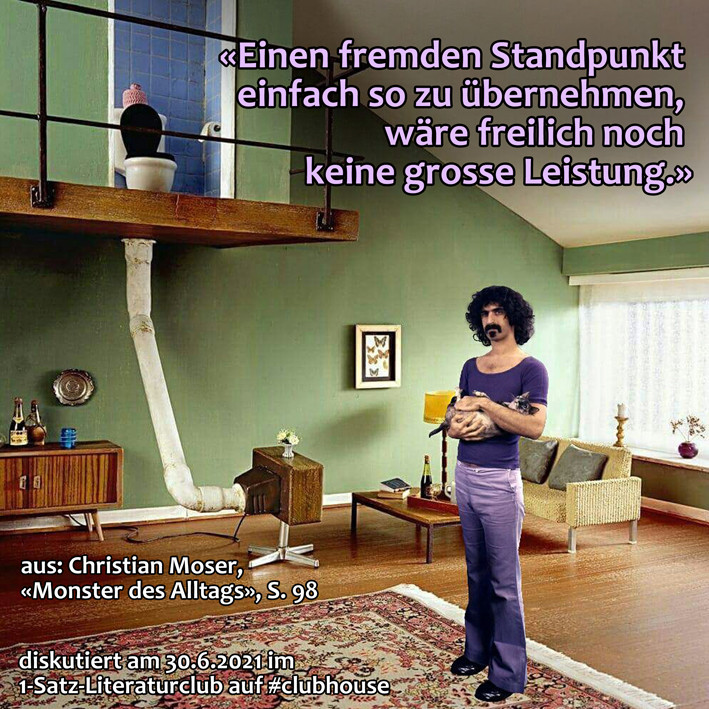 1-Satz-Literaturclub 1SLC Lakritza Judith Niederberger Christian Moser Monster des Alltags