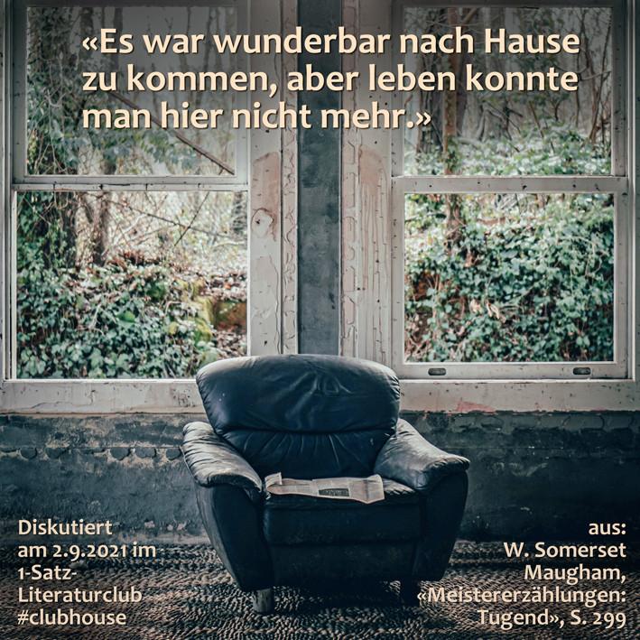 1-Satz-Literaturclub 1SLC Lakritza Judith Niederberger W. Somerset Maugham Meistererzählungen Tugend