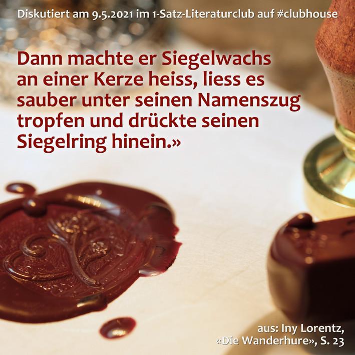 1-Satz-Literaturclub Lakritza Judith Niederberger Iny Lorentz Die Wanderhure