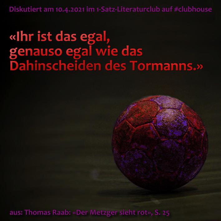 1-Satz-Literaturclub Clubhouse Lakritza Judith Niederberger Thomas Raab Der Metzger sieht rot
