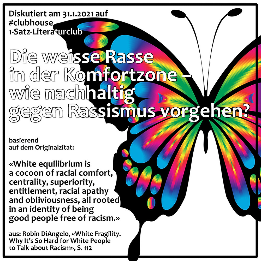 1-Satz-Literaturclub Lakritza Judith Niederberger Robin DiAngelo White Fragility Why It's So Hard for White People to Talk about Racism