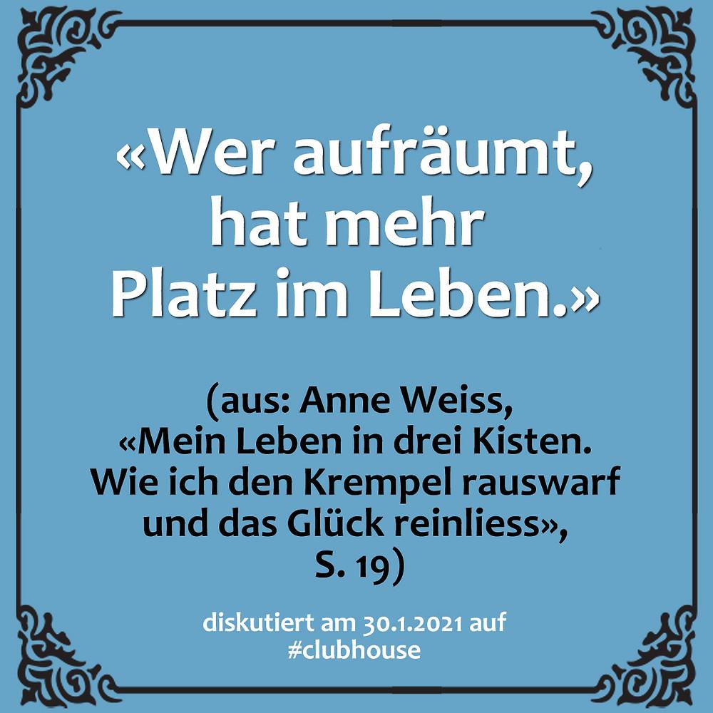 1-Satz-Literaturclub Lakritza Judith Niederberger Anne Weiss Mein Leben in drei Kisten