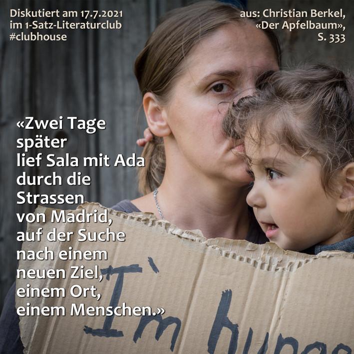 1-Satz-Literaturclub 1SLC Lakritza Judith Niederberger Christian Berkel Der Apfelbaum