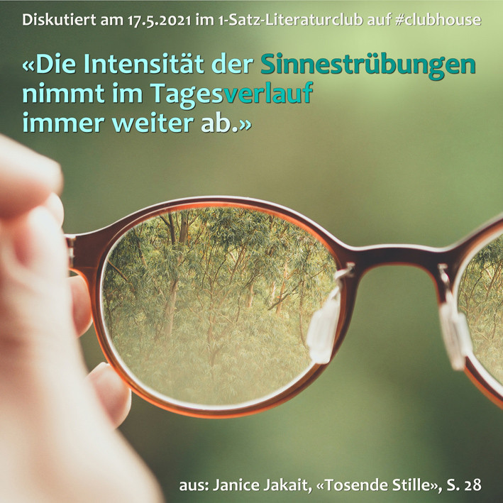 1-Satz-Literaturclub Lakritza Judith Niederberger Janice Jakait Tosende Stille