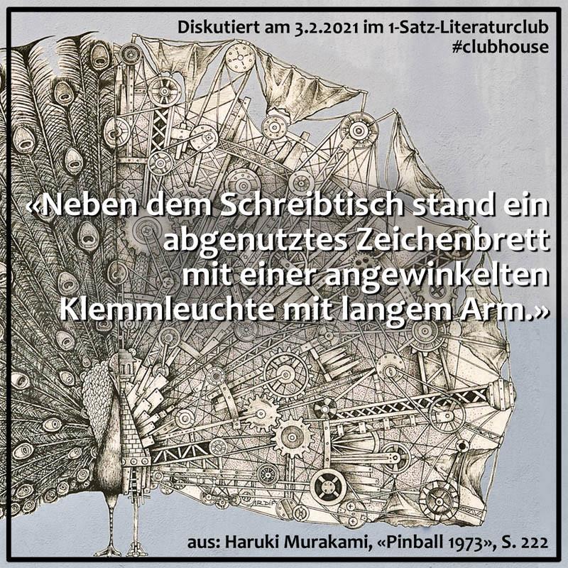 1-Satz-Literaturclub Lakritza Judith Niederberger Haruki Murakami Pinball 1973