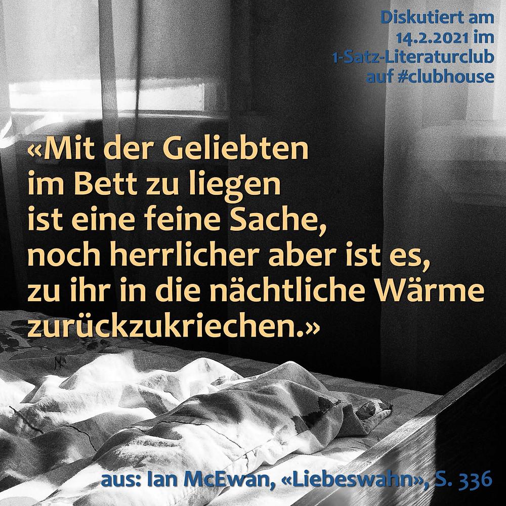 1-Satz-Literaturclub Clubhouse Lakritza Judith Niederberger Ian McEwan Liebeswahn