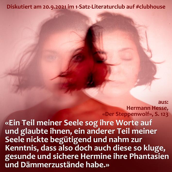 1-Satz-Literaturclub 1SLC Lakritza Judith Niederberger Hermann Hesse Der Steppenwolf
