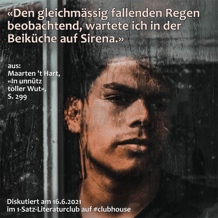 1-Satz-Literaturclub 1SLC Lakritza Judith Niederberger Maarten 't Hart In unnütz toller Wut