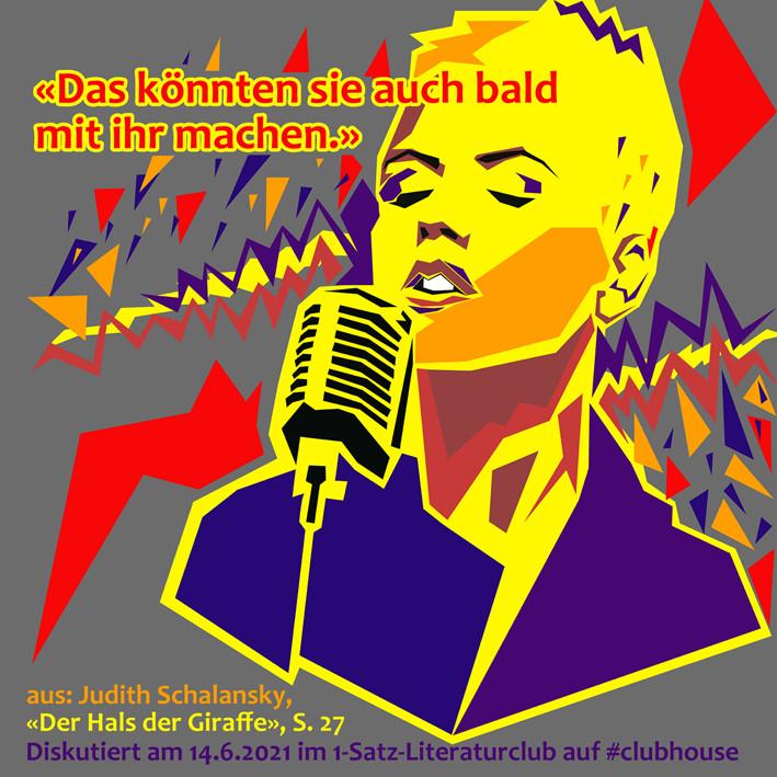 1-Satz-Literaturclub 1SLC Lakritza Judith Niederberger Judith Schalansky Der Hals der Giraffe