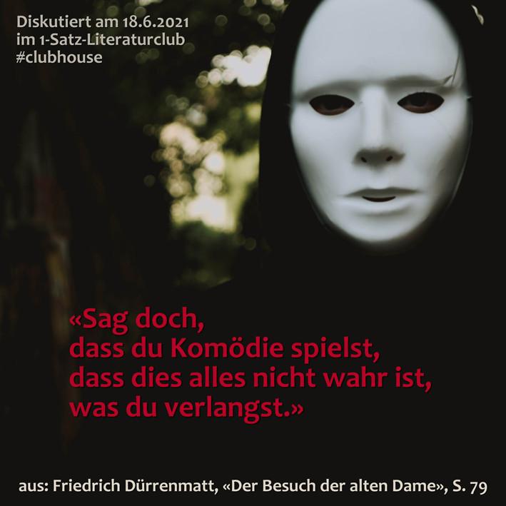 1-Satz-Literaturclub 1SLC Lakritza Judith Niederberger Friedrich Dürrenmatt Der Besuch der alten Dame
