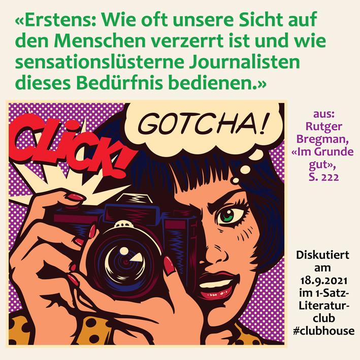 1-Satz-Literaturclub 1SLC Lakritza Judith Niederberger Rutger Bregman Im Grunde Gut