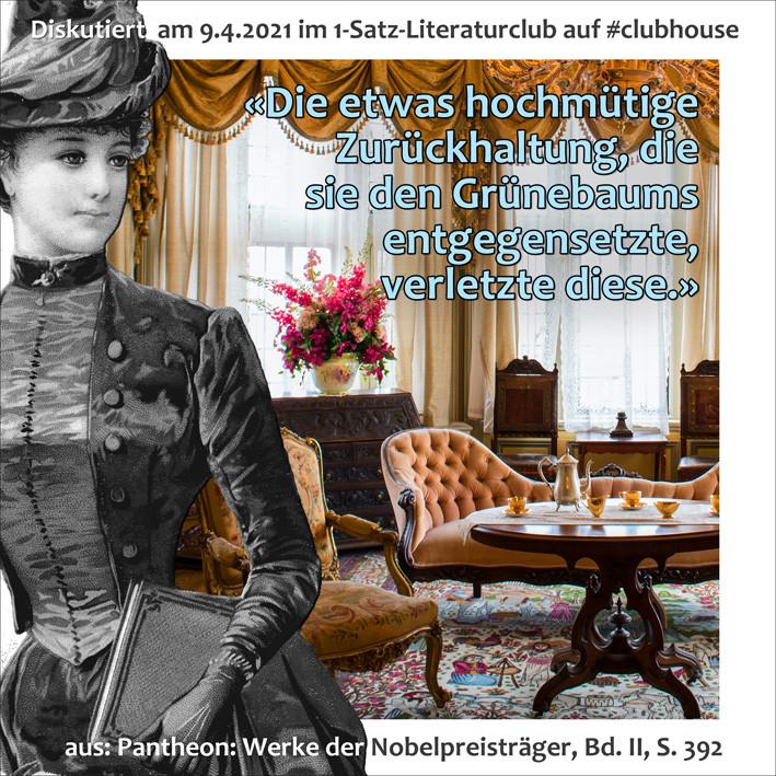 1-Satz-Literaturclub Clubhouse Lakritza Judith Niederberger Pantheon Werke der Nobelpreisträger Romain Rolland Antoinette