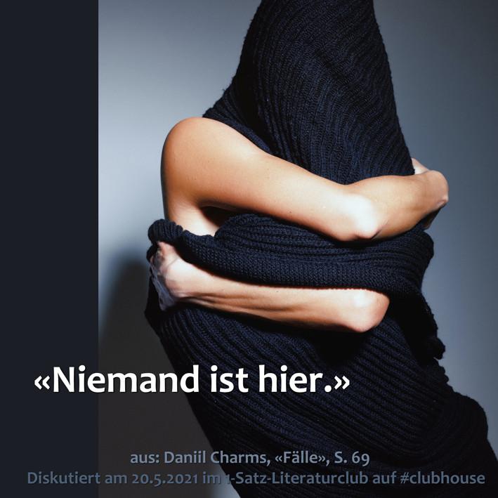 1-Satz-Literaturclub Lakritza Judith Niederberger Daniil Charms Fälle