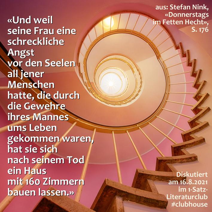 1-Satz-Literaturclub 1SLC Lakritza Judith Niederberger Stefan Nink Donnerstags im Fetten Hecht