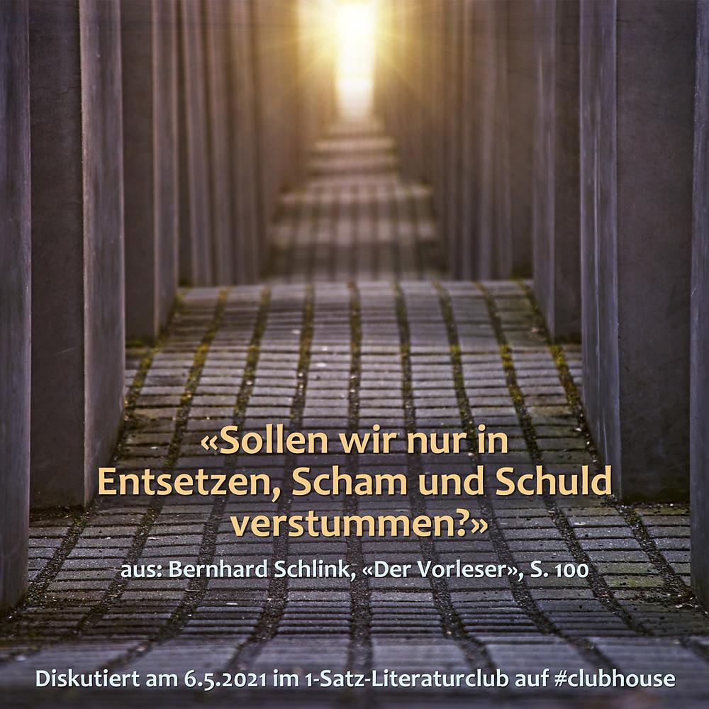 1-Satz-Literaturclub Lakritza Judith Niederberger Bernhard Schlink Der Vorleser