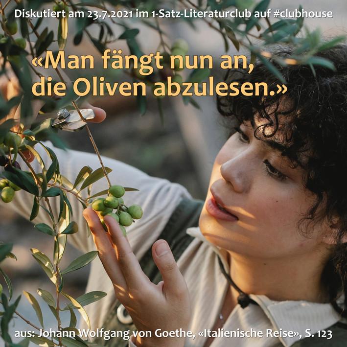 1-Satz-Literaturclub 1SLC Lakritza Judith Niederberger Johann Wolfang von Goethe Italienische Reise