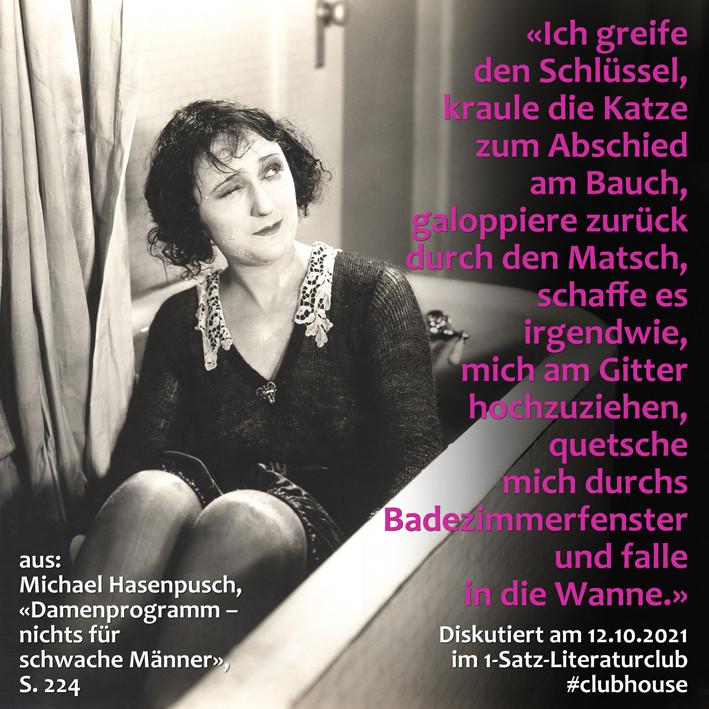 1-Satz-Literaturclub 1SLC Lakritza Judith Niederberger MichaelHasenpusch Damenprogramm Nichts für schwache Männer
