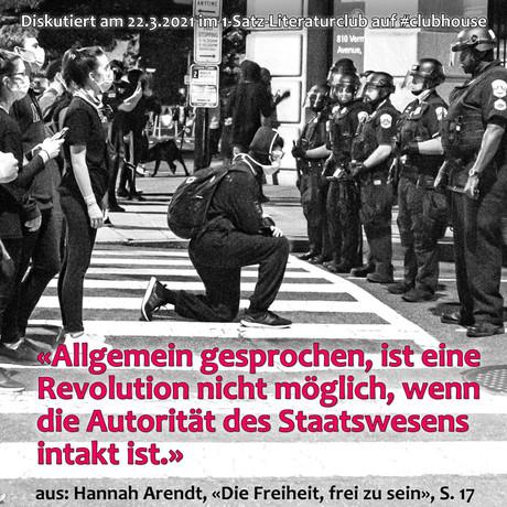 """""""Allgemein gesprochen, ist eine Revolution nicht möglich, ..."""