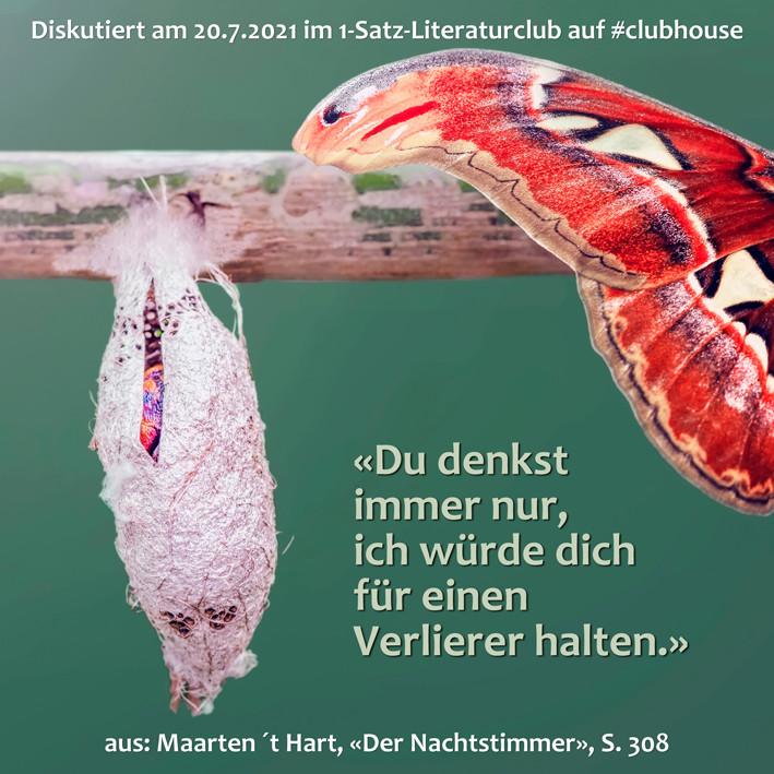 1-Satz-Literaturclub 1SLC Lakritza Judith Niederberger Maarten ´t Hart Der Nachtstimmer