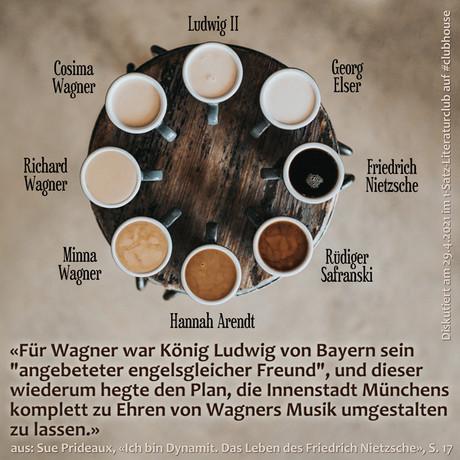 """""""Für Wagner war König Ludwig von Bayern sein """"angebeteter engelsgleicher Freund"""", und dieser ..."""