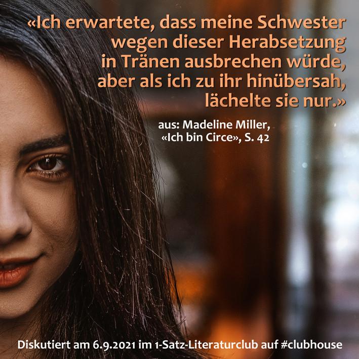 1-Satz-Literaturclub 1SLC Lakritza Judith Niederberger Madeline Miller Ich bin Circe