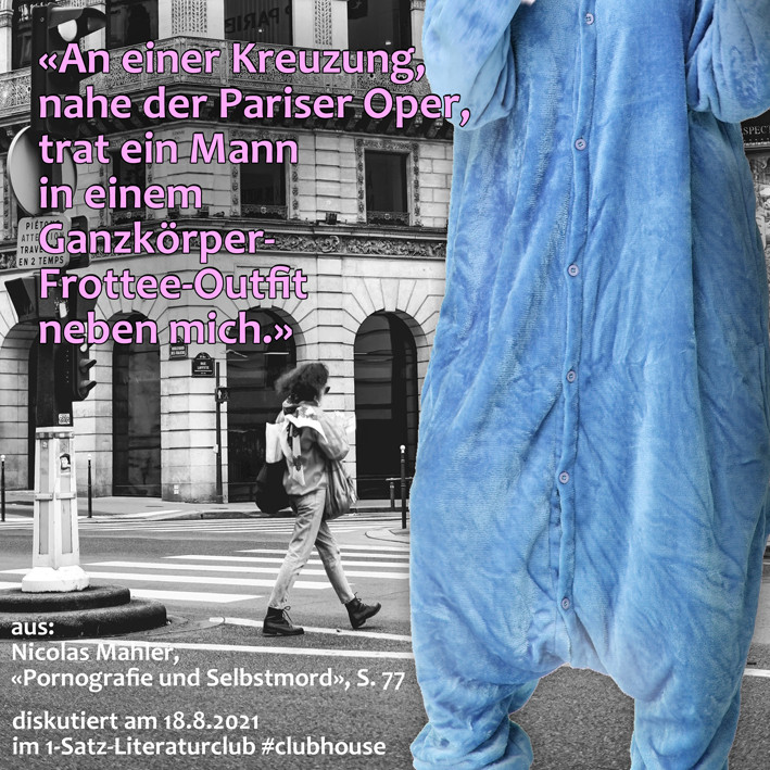 1-Satz-Literaturclub 1SLC Lakritza Judith Niederberger Nicolas Mahler Pornografie und Selbstmord