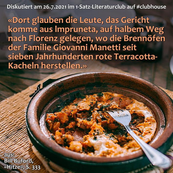 1-Satz-Literaturclub 1SLC Lakritza Judith Niederberger Bill Buford Hitze