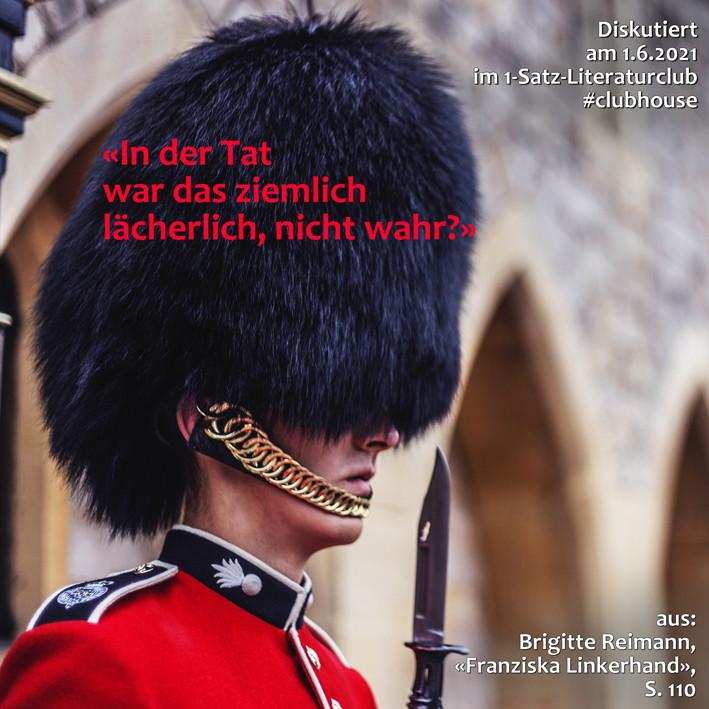 1-Satz-Literaturclub 1SLC Lakritza Judith Niederberger Brigitte Reimann Franziska Linkerhand