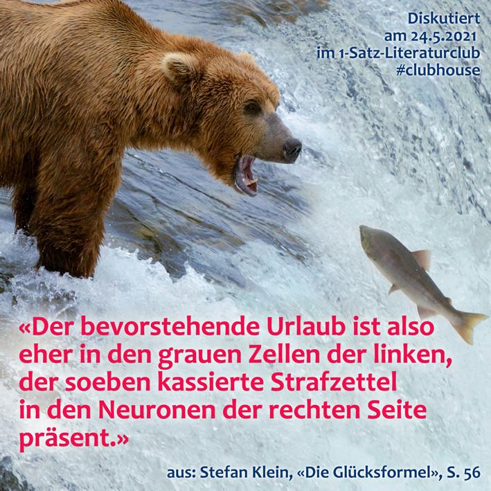1-Satz-Literaturclub Lakritza Judith Niederberger Stefan Klein Die Glücksformel