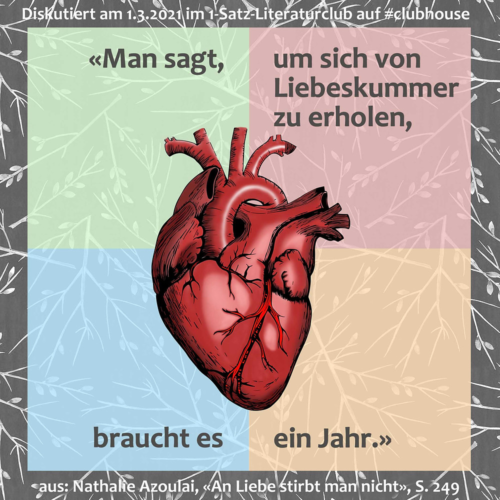 1-Satz-Literaturclub Lakritza Judith Niederberger Nathalie Azoulai An Liebe stirbt man nicht