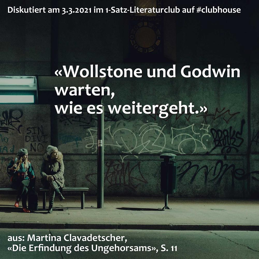 1-Satz-Literaturclub Lakritza Judith Niederberger Martina Clavadetscher Die Erfindung des Ungehorsams