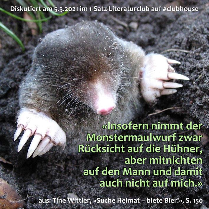 1-Satz-Literaturclub Lakritza Judith Niederberger Tine Wittler Suche Heimat – biete Bier!