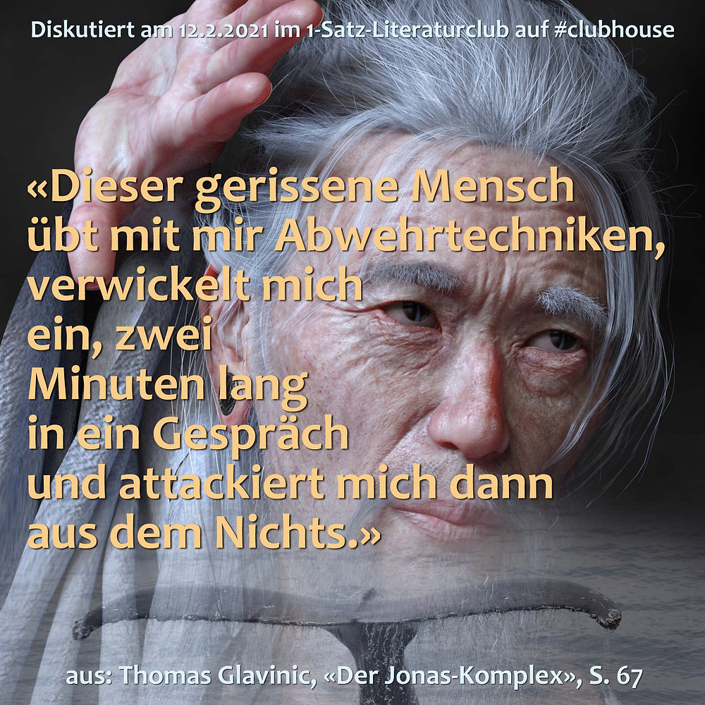 1-Satz-Literaturclub Lakritza Judith Niederberger Thomas Glavinic Der Jonas-Komplex