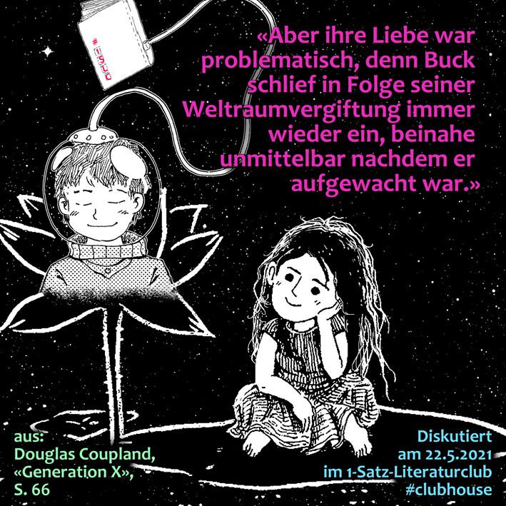 1-Satz-Literaturclub Lakritza Judith Niederberger Douglas Coupland Generation X