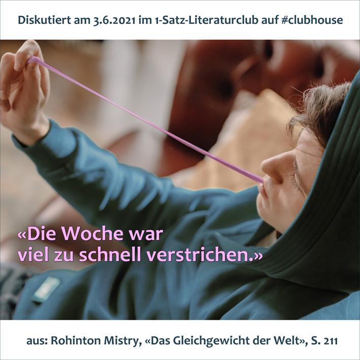 1-Satz-Literaturclub 1SLC Lakritza Judith Niederberger Rohinton Mistry Das Gleichgewicht der Welt