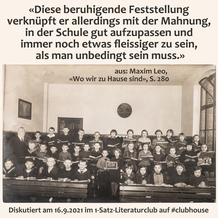 1-Satz-Literaturclub 1SLC Lakritza Judith Niederberger Maxim Leo Wo wir zu Hause sind