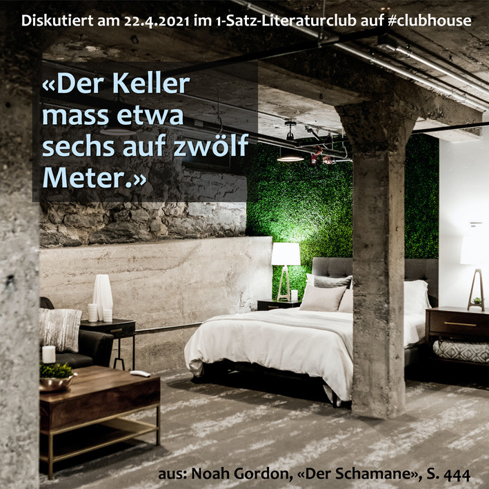 1-Satz-Literaturclub Clubhouse Lakritza Judith Niederberger Noah Gordon Der Schamane