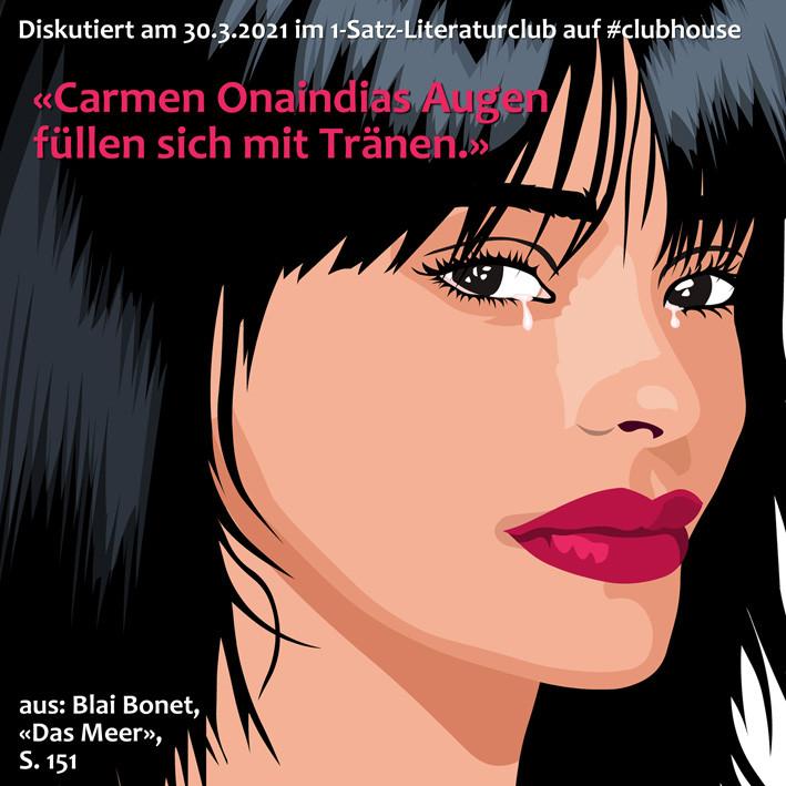 1-Satz-Literaturclub Clubhouse Lakritza Judith Niederberger Blai Bonet Das Meer
