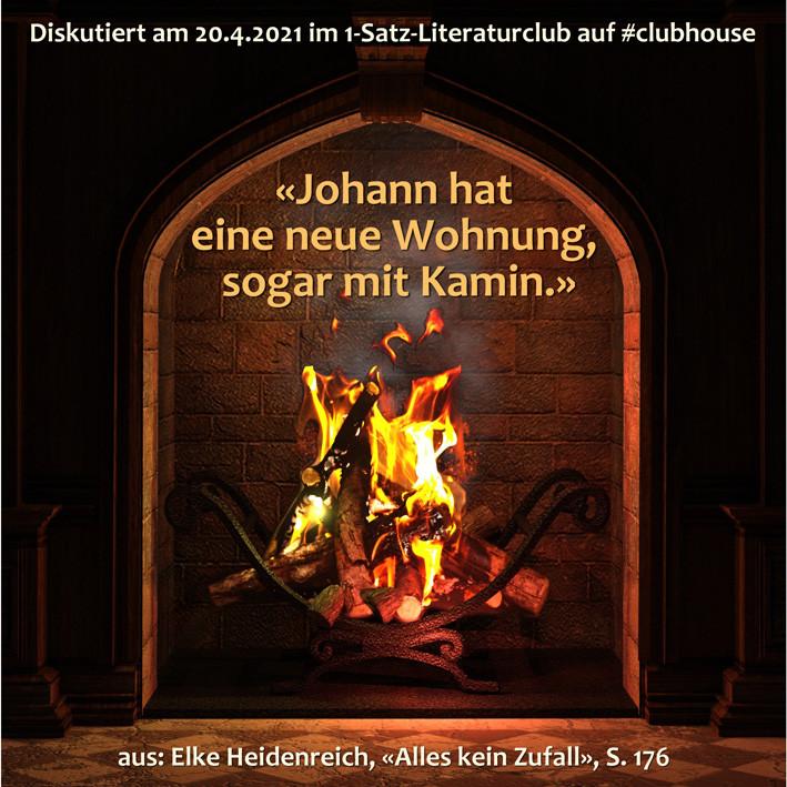 1-Satz-Literaturclub Clubhouse Lakritza Judith Niederberger Elke Heidenreich Alles kein Zufall