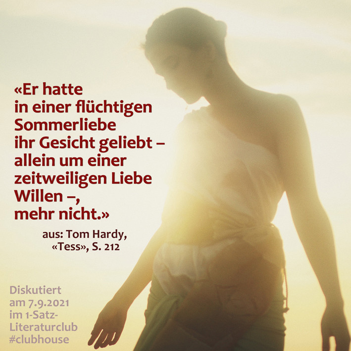 1-Satz-Literaturclub 1SLC Lakritza Judith Niederberger Thomas Hardy Tess