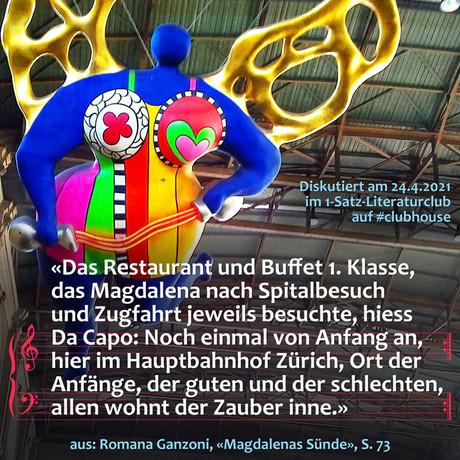 """""""Das Restaurant und Buffet 1. Klasse, das Magdalena nach Spitalbesuch und Zugfahrt jeweils ..."""