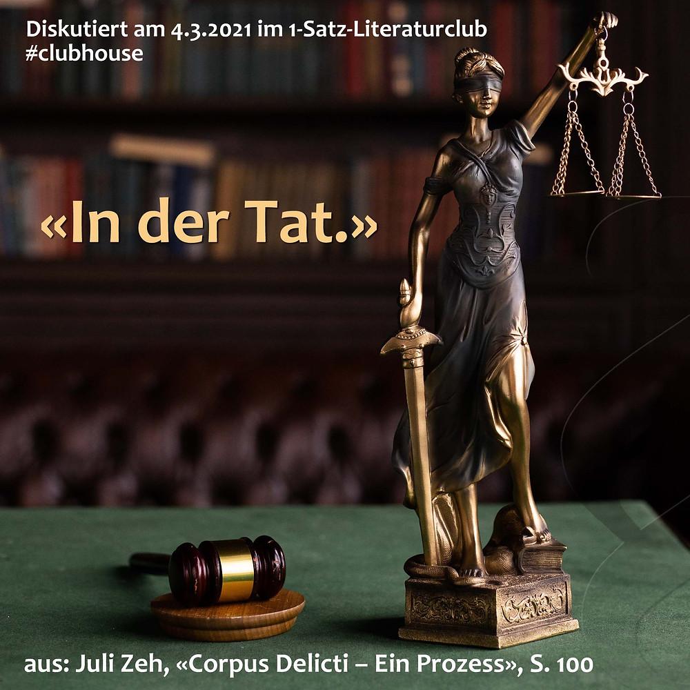 1-Satz-Literaturclub Lakritza Judith Niederberger Juli Zeh Corpus Delicti Ein Prozess