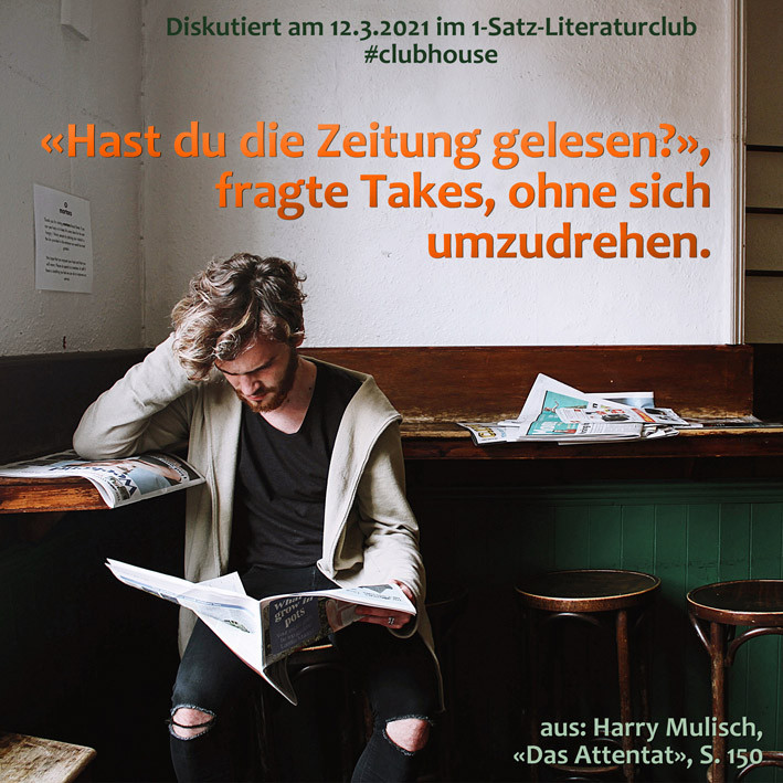1-Satz-Literaturclub Lakritza Judith Niederberger Harry Mulisch Das Attentat